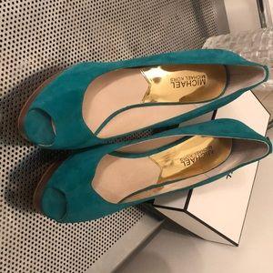 Turquoise Green Michael Korda Heels